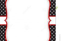 Ladybug Invitation Template Stock Vector  Illustration Of Birthday in Blank Ladybug Template
