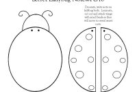 Ladybug Note Template I Made  Paper Craft Themed Templates  Notes with Blank Ladybug Template