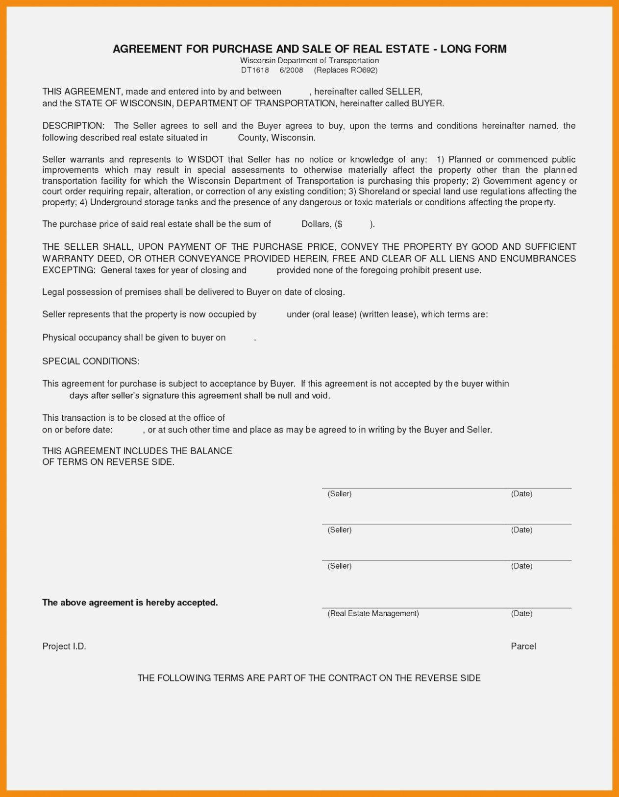 Land Sale Agreement Form Fresh Land Sale Agreement Form Unique Inside Simple Land Sale Agreement Template