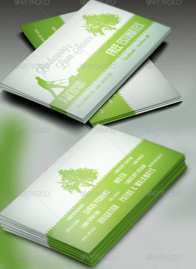 Landscaping Business Card Templates  Word Psd  Free  Premium Throughout Gardening Business Cards Templates
