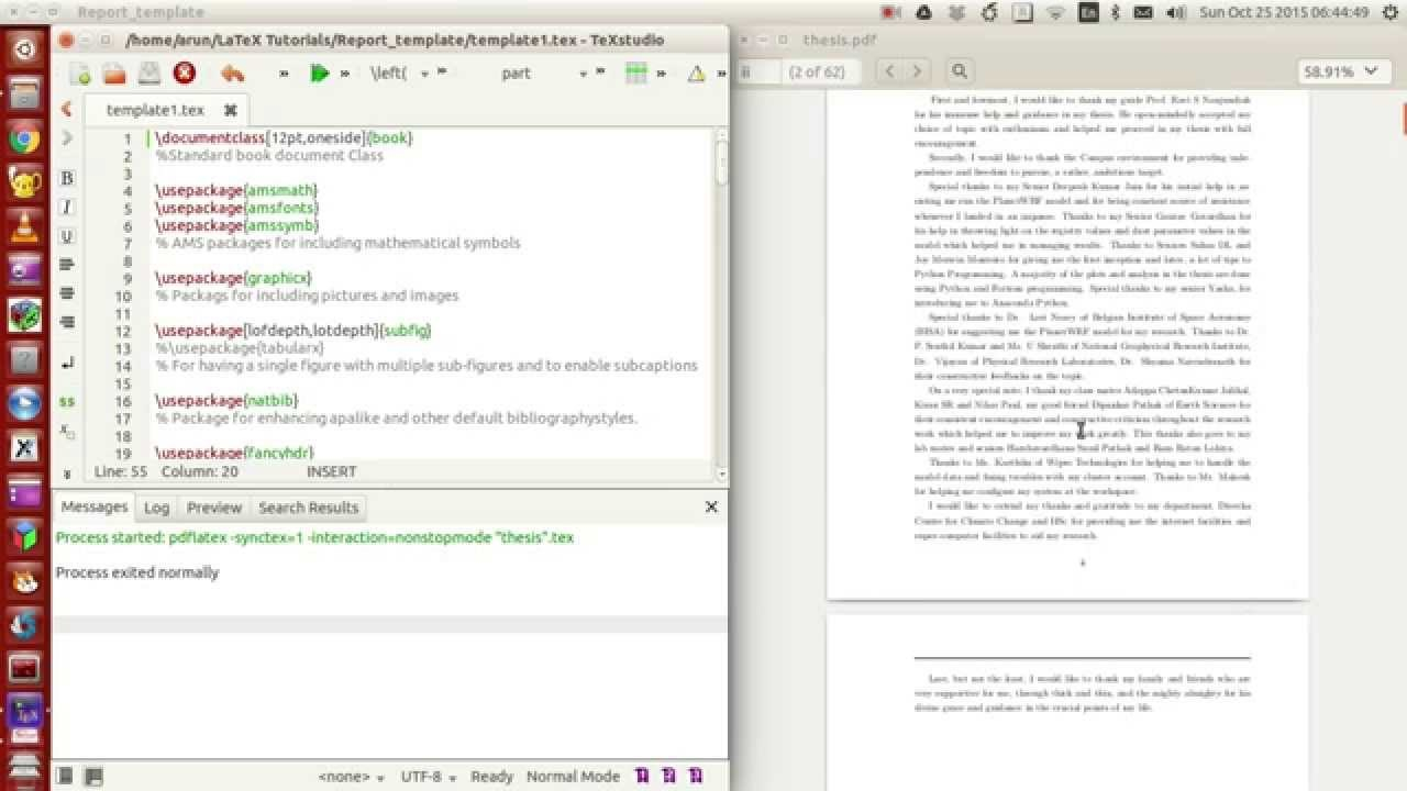Latex Programming    Making Your Own Thesisreport Template Within Technical Report Template Latex