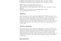 Latex Templates » Academic Journals in Latex Template Technical Report