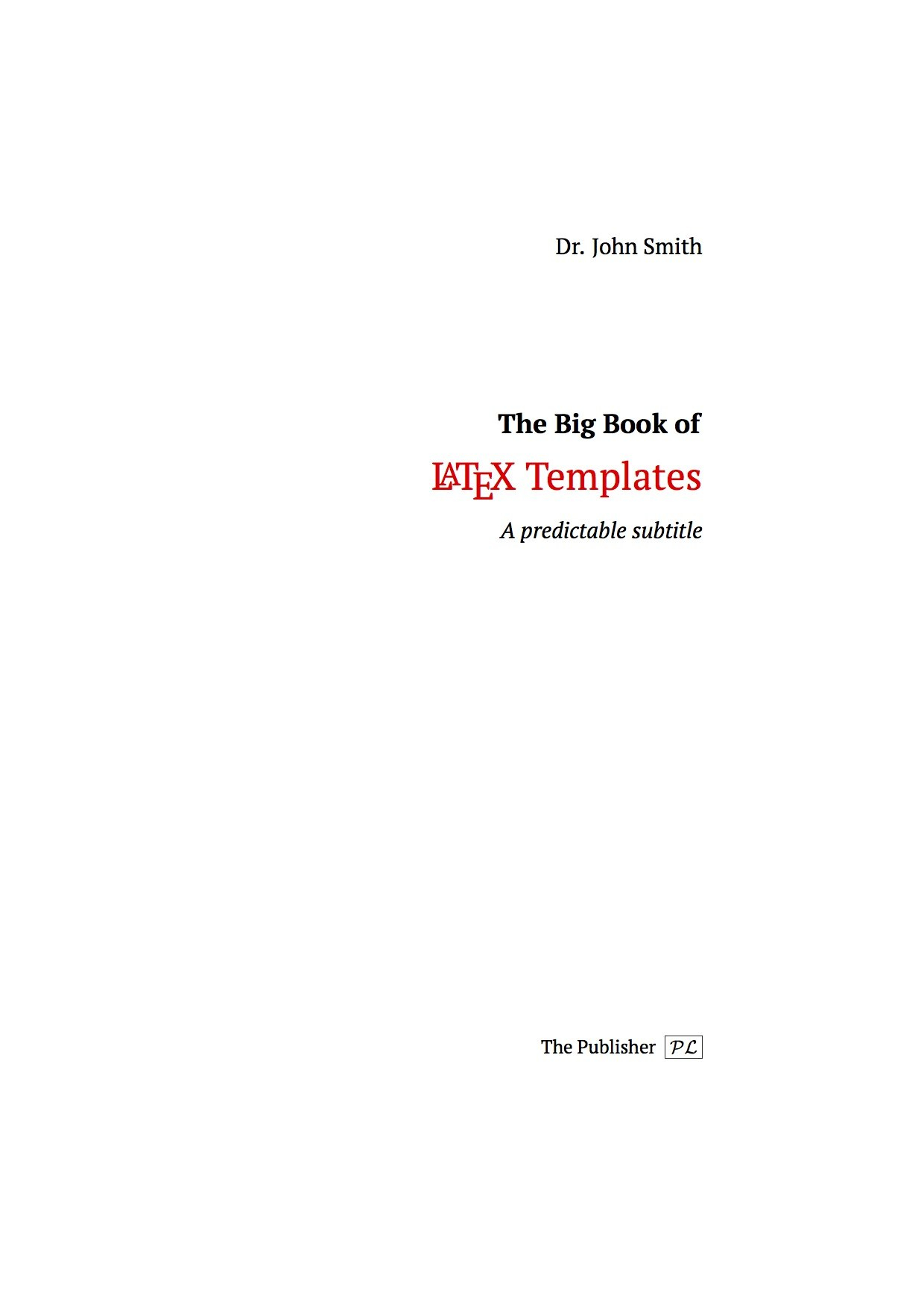 Latex Templates » Title Pages Intended For Latex Template For Report