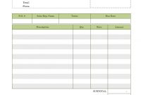 Lawn Care Invoice Template inside Template Of Invoice For Services Rendered