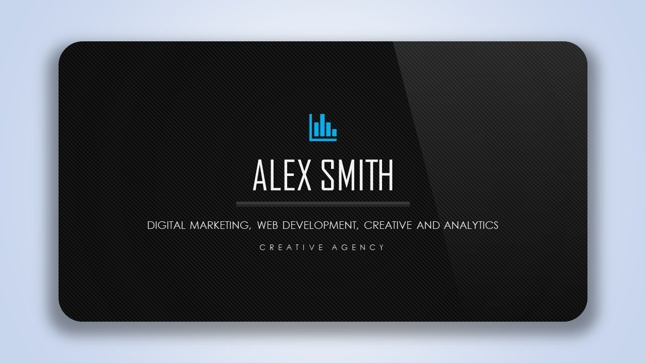 Learn To Design Elegant Business Card Abstract Template With Regard To Business Card Template Powerpoint Free