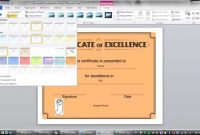 Lesson  Learning How To Make Certificate Ms Word   Youtube with regard to Word 2013 Certificate Template