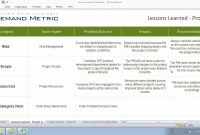 Lessons Learned Template  Youtube regarding Prince2 Lessons Learned Report Template