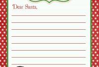 Letter From Santa Template Lettertosantabigkidcopy Breathtaking for Blank Letter From Santa Template