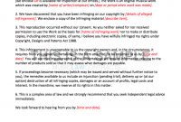 Letter Of Claim Template Copyright Infringement pertaining to Legal Undertaking Template