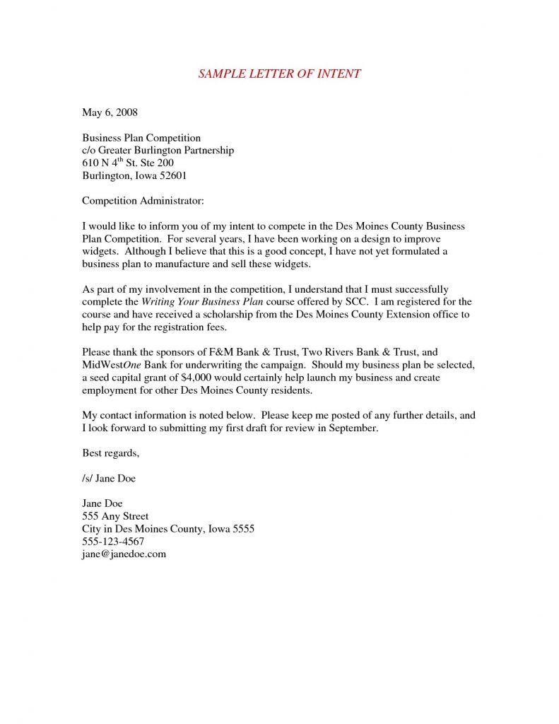 Letter Of Intent Business Partnership  Loi Partnership Agreement With Letter Of Intent For Business Partnership Template