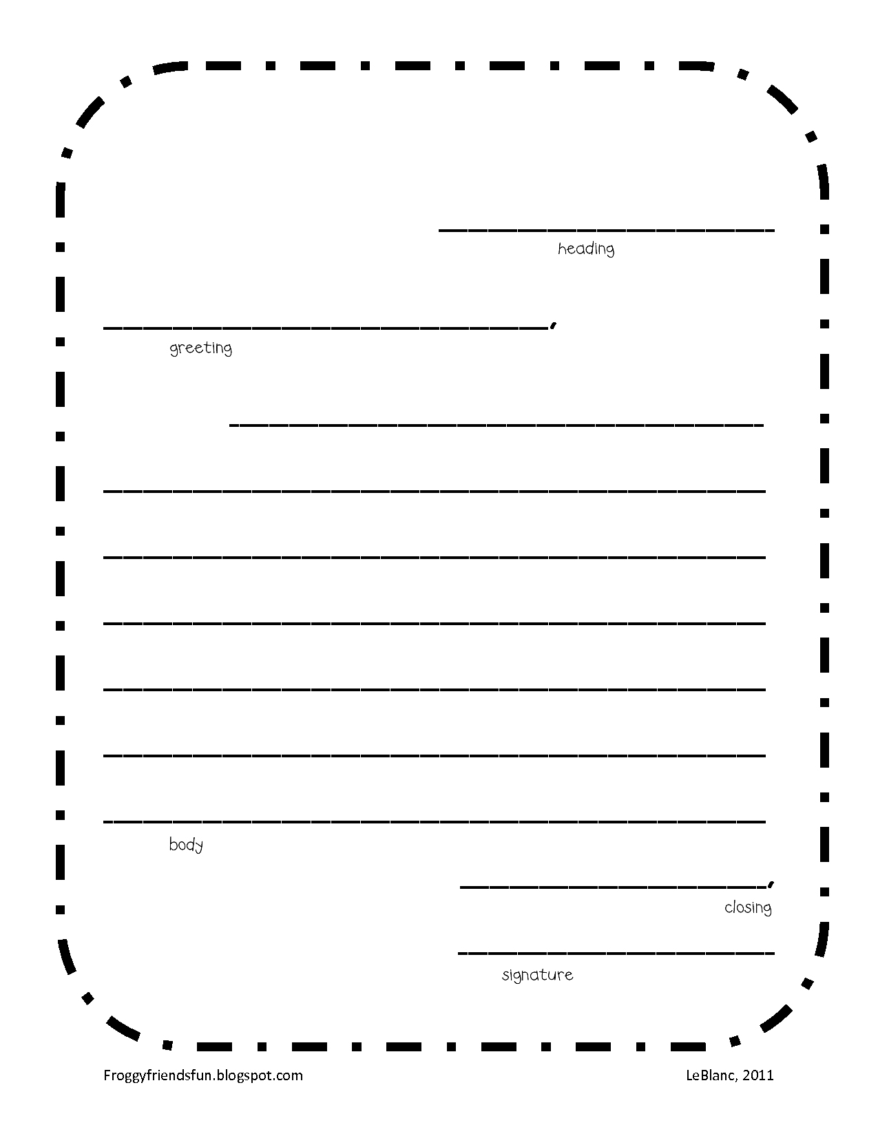 Letter Template For Kids  Gplusnick Within Blank Letter Writing Template For Kids