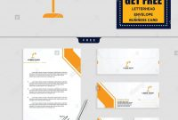 Light Interior Logo Template Vector Illustration And Stationery within Business Card Letterhead Envelope Template