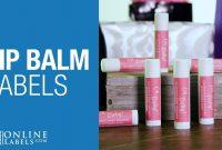 Lip Balm Labels  Shop Blank Lip Balm Tube Labels  Onlinelabels in Lip Balm Label Template