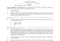 Literary Agency And Representation Agreement  Legal Forms And intended for Legal Representation Agreement Template