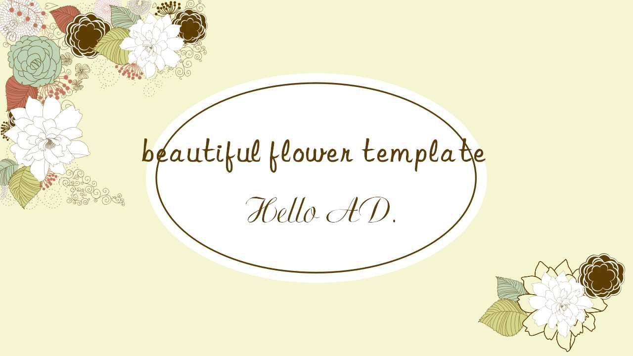 Literary Beautiful Flower Ppt Templatefree Powerpoint Templates And Regarding Pretty Powerpoint Templates