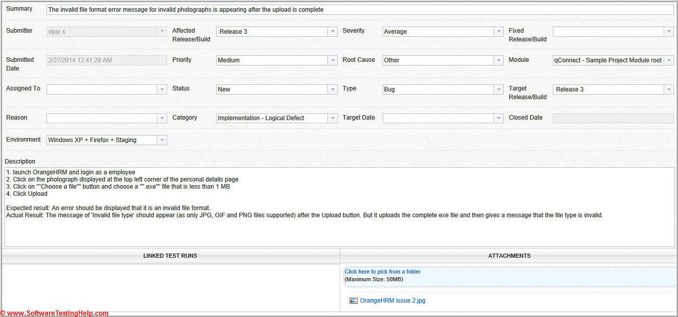 Live Project Bug Tracking Test Metrics And Test Sign Off – Free Qa Pertaining To Test Exit Report Template