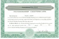 Llc Membership Certificate Template Collection Of Solutions For with regard to Llc Membership Certificate Template Word