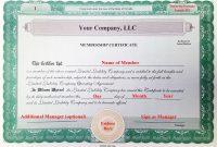 Llc Membership Certificate Template Member Staggering Ideas Pdf throughout Llc Membership Certificate Template