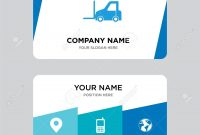 Logistics Transport Business Card Design Template Visiting For intended for Transport Business Cards Templates Free