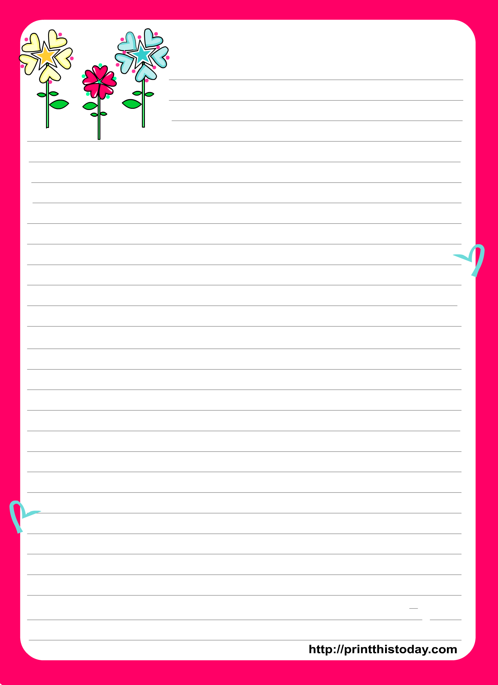 Love Letter Pad Stationery Intended For Blank Letter Writing Template For Kids