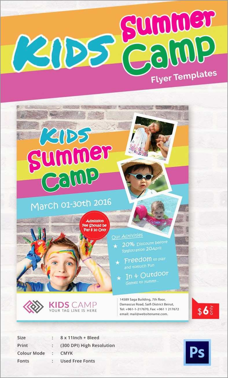 Lovely Free Summer Camp Schedule Template  Best Of Template Inside Summer Camp Brochure Template Free Download