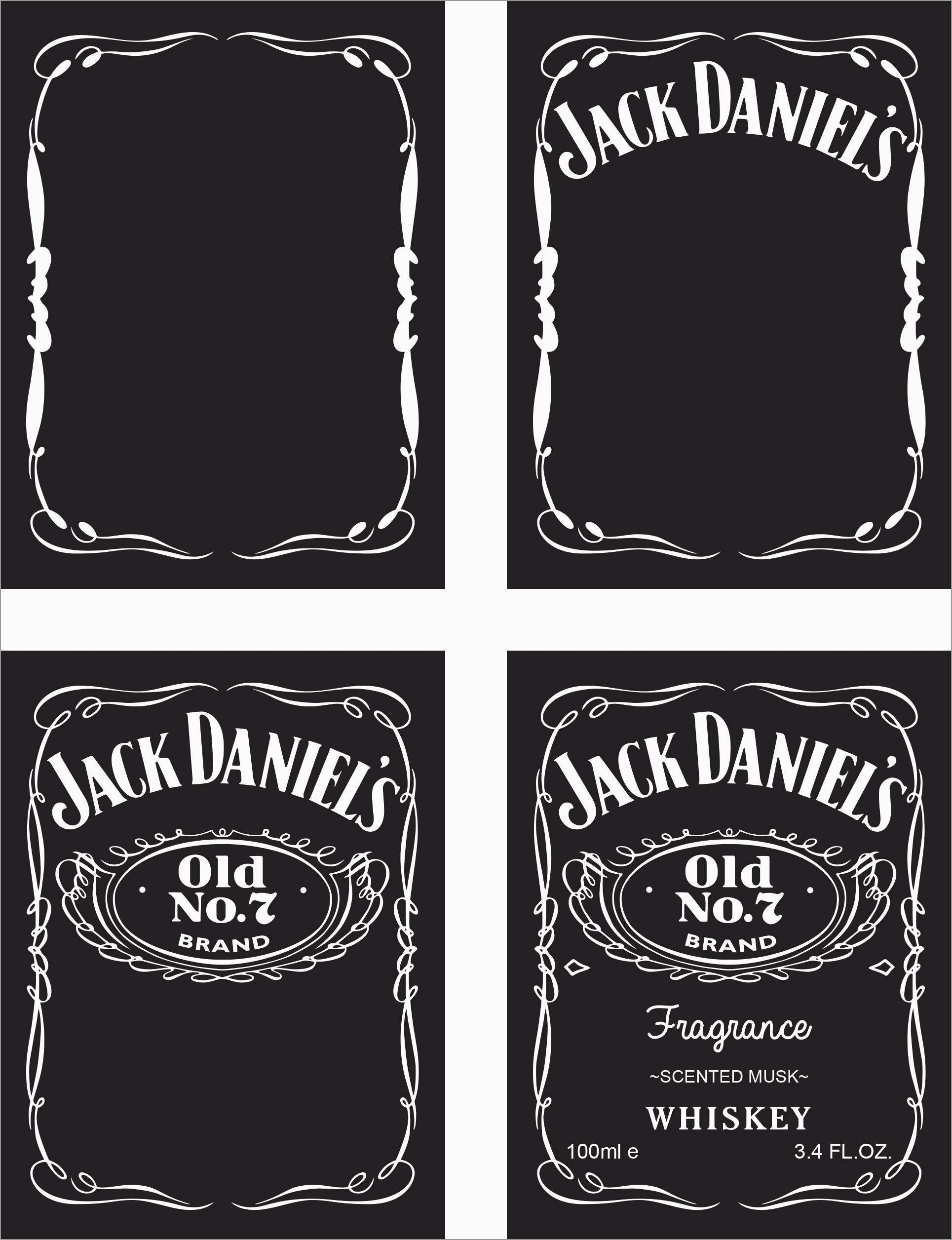 Lovely Jack Daniels Invitation Template Free  Best Of Template Within Blank Jack Daniels Label Template