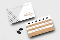 Loyalty Card Design Tan And White Template Punch Card  Etsy intended for Loyalty Card Design Template