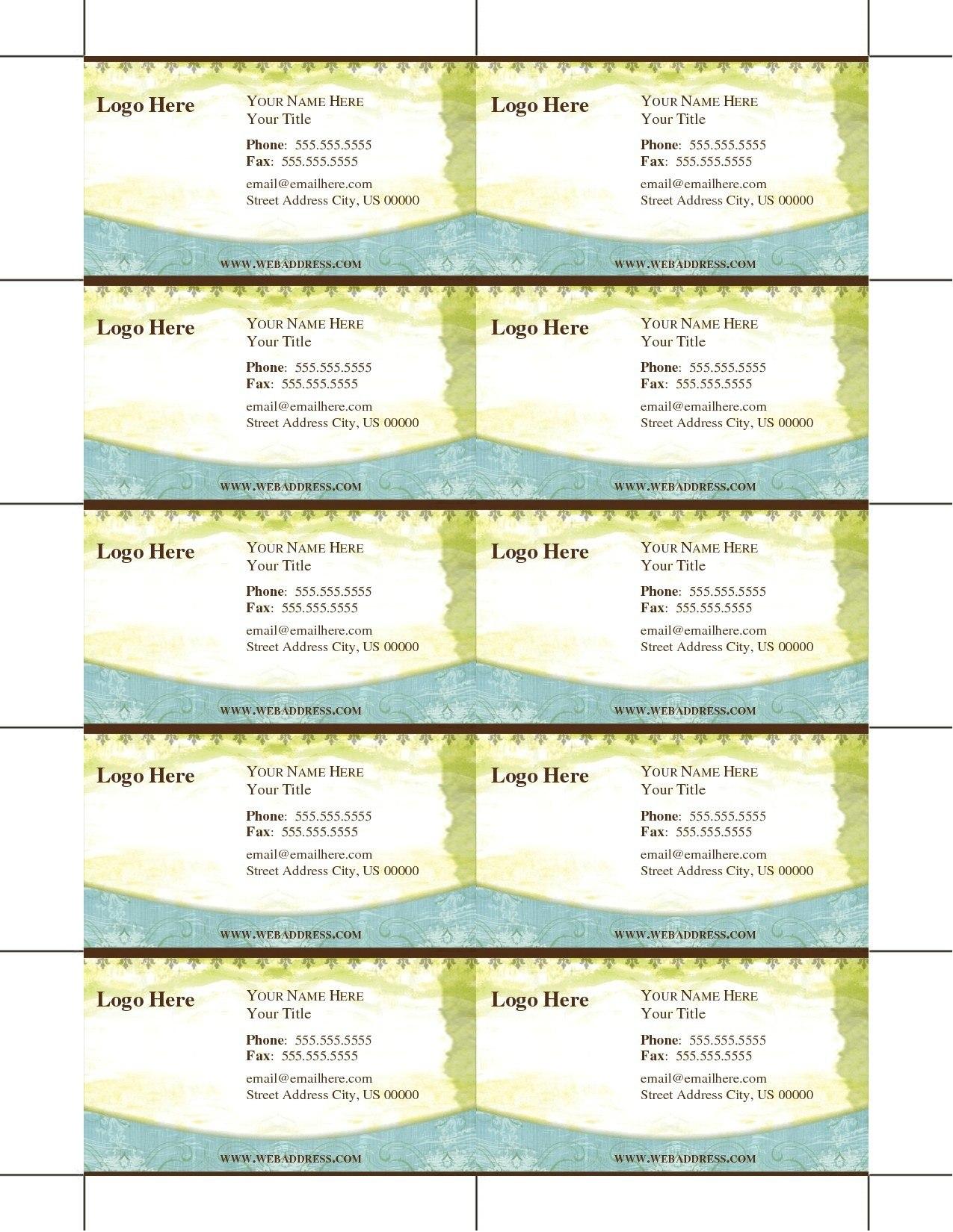 Luxury Blank Business Card Template Microsoft Word  Wwwpantry In Ms Word Business Card Template