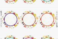Luxury Circle Sticker Labels  Acilmalumat inside Round Sticker Labels Template