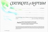 Luxury Free Baptism Certificate Template Word  Best Of Template within Baby Christening Certificate Template