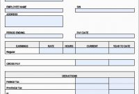 Luxury Free Pay Stub Template  Best Of Template inside Blank Pay Stubs Template