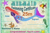 M Mermaid Swimming Certificate  Rooftop Post Printables with regard to Free Swimming Certificate Templates
