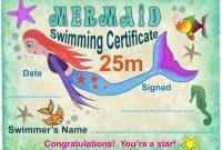 M Mermaid Swimming Certificate  Rooftop Post Printables with regard to Swimming Certificate Templates Free