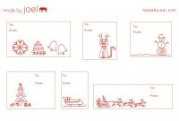 Madejoel » Holiday Gift Tag Templates pertaining to Goodie Bag Label Template