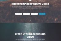 Magical Css Bootstrap Carousel Video Players And Accordion Menu intended for Html Header Menu Templates
