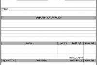Maintenance Repair Job Card Template  Microsoft Excel Template And regarding Job Card Template Mechanic