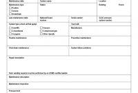Maintenance Report Template Word  Papakcmic in Machine Breakdown Report Template