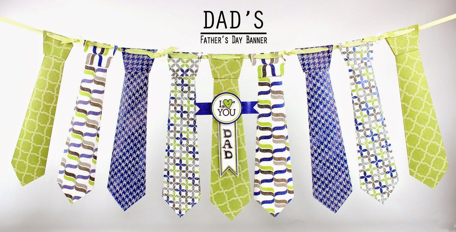 Make A Father's Day Tie Banner Using A Simple Template Provided On Within Tie Banner Template