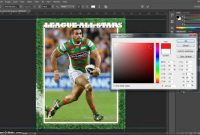 Make A Trading Card In Adobe Photoshop  Part   Youtube with Baseball Card Template Psd