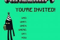 Make An Birthday Invitation Template Minecraft Templates For within Minecraft Birthday Card Template