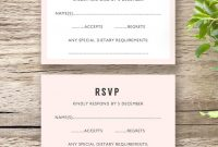 Make An Wedding Invitation Template With Rsvp Editable With intended for Template For Rsvp Cards For Wedding