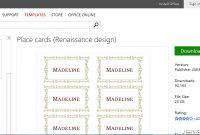 Make Wedding Planning Easier Using Microsoft Office regarding Microsoft Word Place Card Template