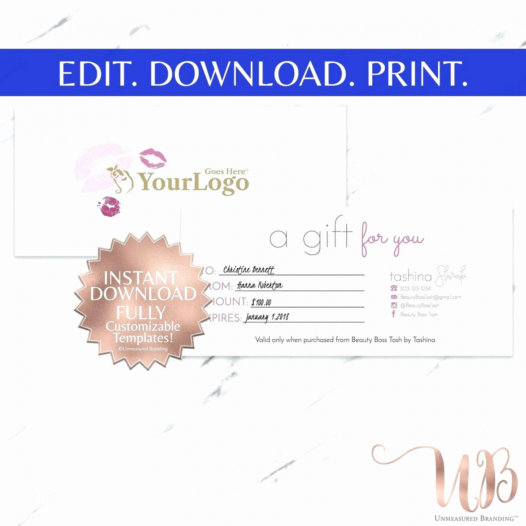 Makeup Gift Certificate Template  Emetonlineblog For This Certificate Entitles The Bearer Template