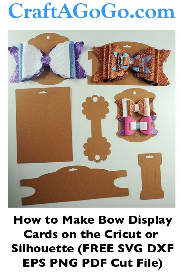 Making Bow And Headband Display Cards On The Cricut – Svg Dxf Eps In Headband Card Template