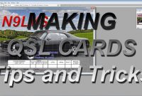 Making Qsl Cardstips And Tricks  Youtube pertaining to Qsl Card Template