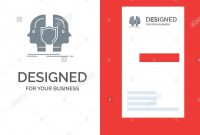 Man Face Dual Identity Shield Grey Logo Design And Business Card in Shield Id Card Template