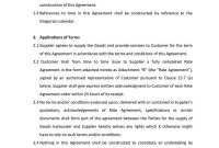 Manufacturing And Supply Agreement  Templates Hunter in Manufacturing Supply Agreement Templates