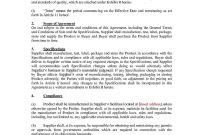 Manufacturing And Supply Agreement  Templates Hunter regarding Manufacturing Supply Agreement Templates