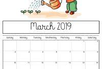 March  Printable Calendar For Kids   March  Calendars for Blank Calendar Template For Kids