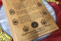 Marine Corps Staff Nco Creed Plaque Usmc Customized And  Etsy for Usmc Meal Card Template
